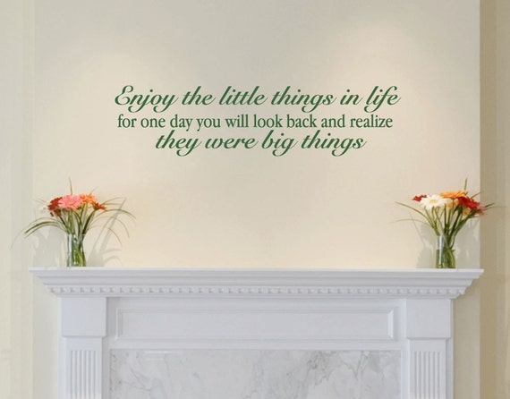 Wall Decals Wall Words Art Wall Stickers Vinyl Lettering - Enjoy the Little Things