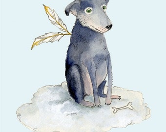 Dog Giclee Dog Print 8x11, Dirk the Wonder Dog print