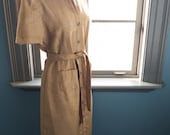 Everything's golden... vintage golden khaki safari/military influenced shirtdress