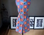 Bambara... Vintage ethnic/tribal print summer playsuit ROMPER