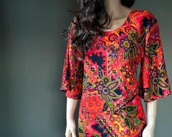 Vintage floral paisley MAXI DRESS