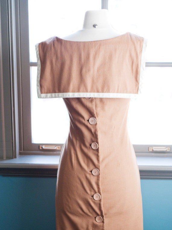 La mer... Vintage nautical influenced wiggle dress