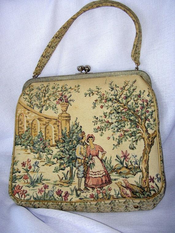 Vintage Scenery Tapestry Purse