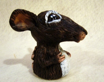 Mouse finger puppet, hand made, OOAK