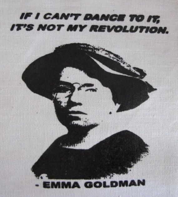 Emma Goldman feminist anarchist activist DIY Patch Screen Printed