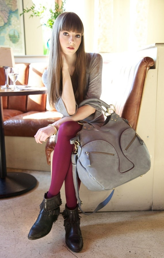 Glorianne weekend travel bag handmade from real leather.