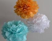 Tissue Paper Pompoms / Wedding Backdrop / Photo Backdrop / Centerpieces / 40