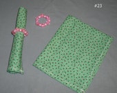 Pair of Cloth Napkins with Napkin Rings Greens Your Choice Eco Friendly Reusable Fabric Dinner Dining Lunch Kitchen Home Picnic Party