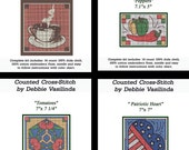 Counted Cross Stitch Kit Food Oriental Nautical Clown Beach Fantasy Aida Cloth Embroidery Floss Instructions Graph Chart Pattern DIY Craft