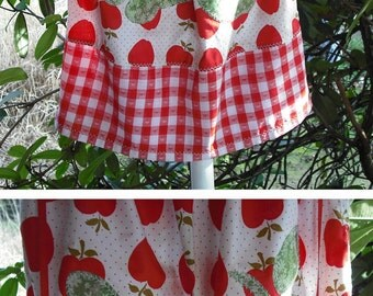 Childs Pillow Case Dress w Appliques Contrasting Band Flower Butterfly Apples Stars Hands Summer Wedding Party Kids Clothing Ready To Ship