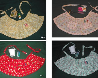 American Girl 18 inch Doll Madame Alexander What A Doll Apron with Kitchen Items Set Flowers Butterflies Stripes Fabric Prints Playtime
