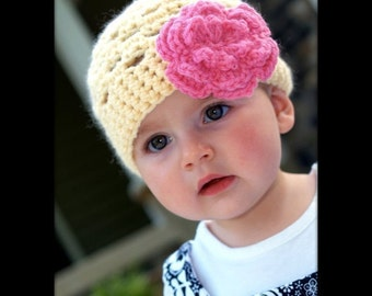 CROCHET PATTERN - Spring Fling Beanie - Quick and Easy - All sizes included from Baby to Adult - PDF 101 - Sell what you Make