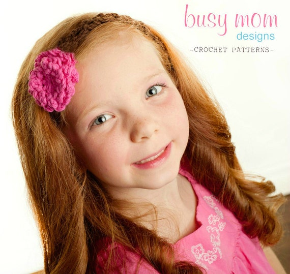 CROCHET Headband PATTERN - Garden Party Headband - All sizes included - EASY - pdf 308 - Sell what you Make