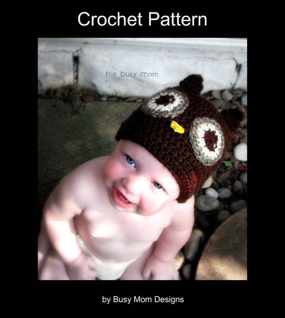 CROCHET PATTERN - Owl Beanie with Optional Earflaps- Now Includes ALL sizes from preemie to adults - pdf 111 - Sell what you Make