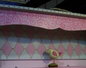 Pink Wall Decor 28 inch WALL SHELF ANY Design or Color requested
