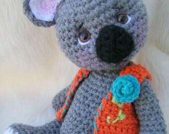 Crochet Pattern Koala Bear by Teri Crews instant download PDF format Crochet Toy Pattern