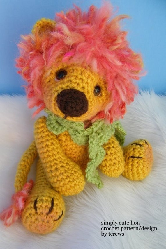 Crochet Pattern Lion by Teri Crews instant download PDF format