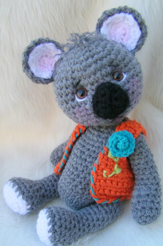 Free Crochet Patterns Australian Animals : Crochet Pattern Koala Bear by Teri Crews instant download ...