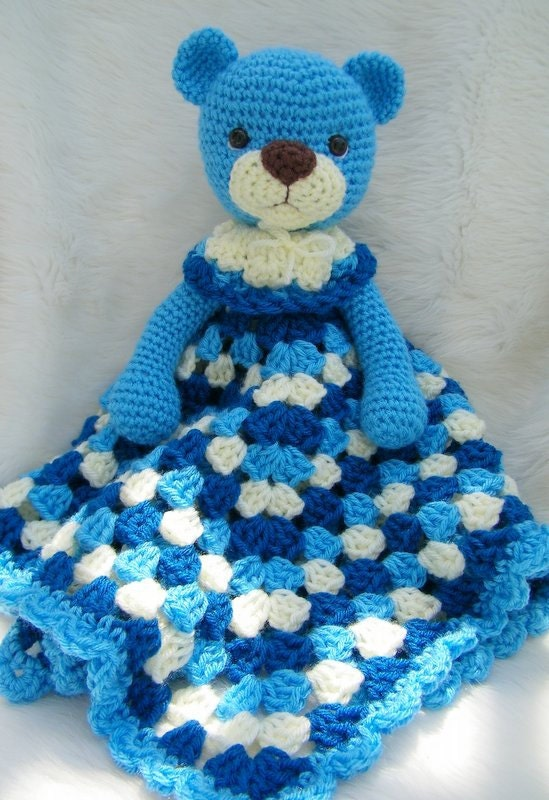 Free Crochet Pattern Huggy Blanket : Crochet Pattern Teddy Bear Huggy Blanket by Teri Crews instant