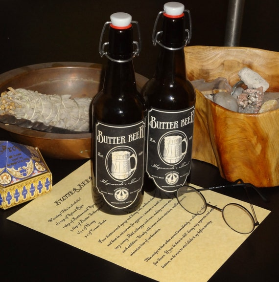 Harry Potter Butter Beer Bottles and Recipe