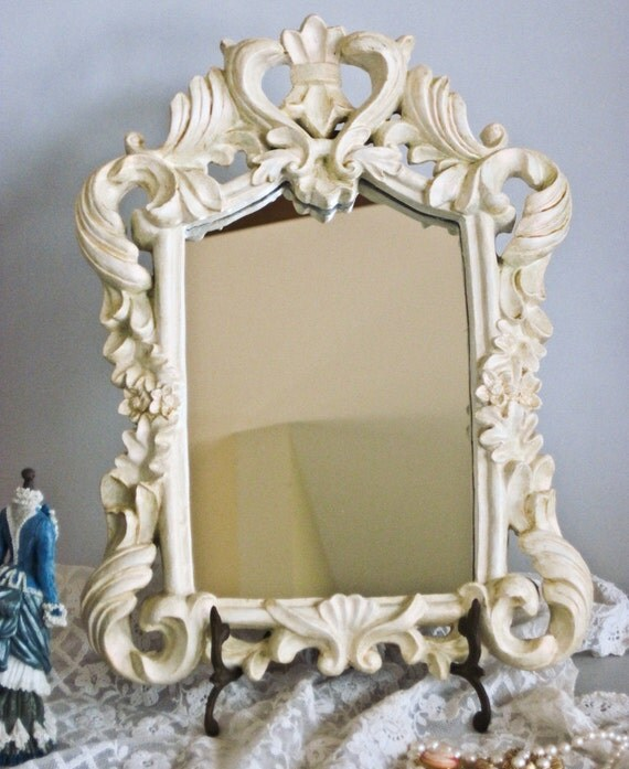 Accent Mirror Tabletop Hollywood Regency Tres Chic 10.5 x 14