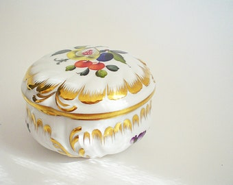 Hungarian Porcelain Trinket Box Herend Bonbon Box or Jewelry Box