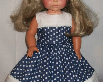 18inch Doll Basic Poka Dots and White Dress