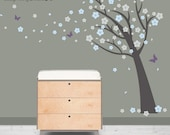 Baby Nursery Wall Decal - Cherry Blossom Tree Wall Decal - Children Tree Decal - 0037