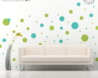 Polka Dot Wall Decal - 2 colors - Nursery Wall Decals - 0029