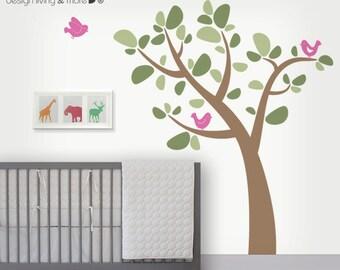 Bird Tree Wall Sticker - Nursery Wall Decals - 0061