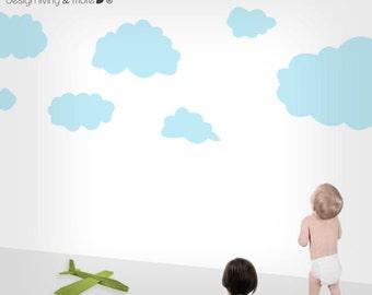 Cloud Wall Decals - Children Wall Stickers - Nursery Wall Decals - 0078