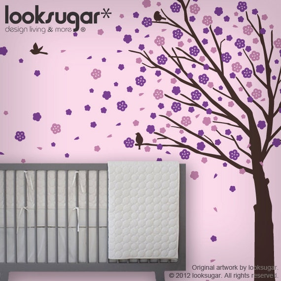 Cherry Blossom Tree Decal - Children Wall Stickers - 0088