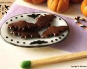 Chocolate Bats 1/12 scale dollhouse miniature - HALLOWEEN RANGE