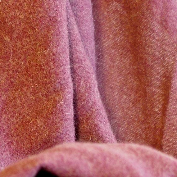 reserved Vintage Fashion Wool Fabric, Faded Beet Purple, Lightweight Wool, 2-1/2 yards, 1.13-lb B16