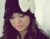The Tori Cloche Crochet cloche hat with brim and with detachable bow- 3 Years-Ten