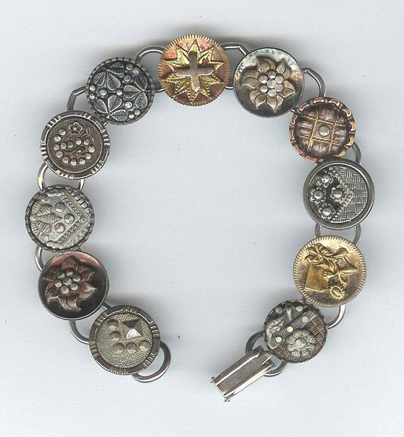 1800s steel cup button bracelet
