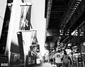 Going to Yankees Stadium Photography Print, New York City Photo Urban Decor, NYC Wall Decor