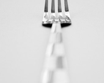 Flatware Set of 3 5x7 Photography Print, Spoon, Fork, Knife, Utensils, Still Life, Fine Art by thebqe