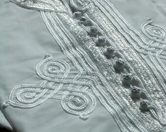 Men's White Kaftan Shirt-great for resort wear, lounge wear, beach wear,for birthdays, Valentine's day gifts