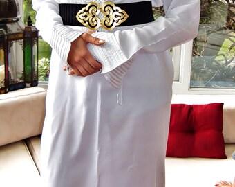 White Moroccan Luxury Loungewear Caftan - loungewear,resortwear,robe,gifts for her, bridesmaids gifts,Birthdays,Honeymoon, Maternity Gifts