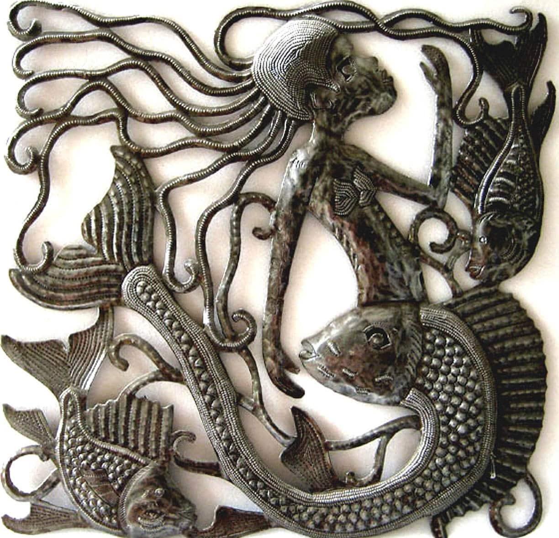 Metal Wall Art Home Decor Metal Mermaid Wall Hanging