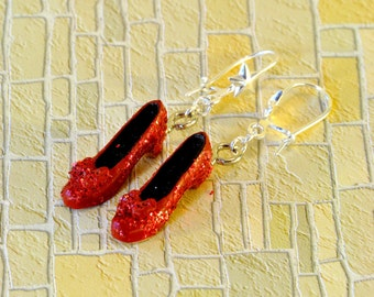 Ruby Slippers Earrings, Wizard of Oz Earrings, Wizard of Oz Jewellery
