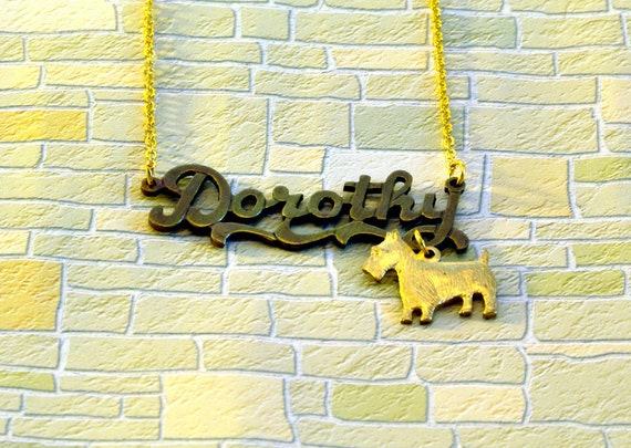 Dorothy and Toto Wizard of Oz Necklace
