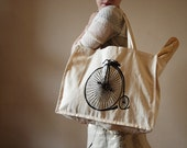 Penny Farthing Bicycle Tote Bag