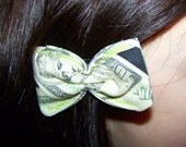 Cash Bow - Dollars - United States - Money - Hair bow - Clip