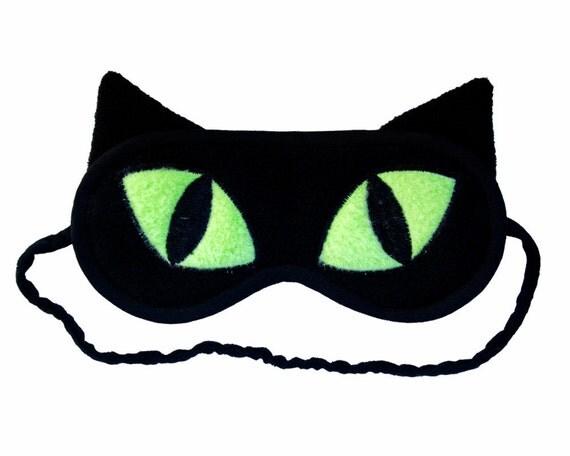 masque de sommeil chat masque chat noir pour les yeux les