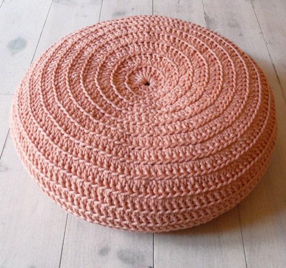 Floor Cushion Crochet- Peach