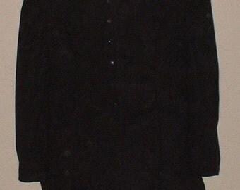 EGA/Steampunk/Neo Victorian /Goth Jacket in Black Plus Size