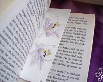 White Flower Bookmark