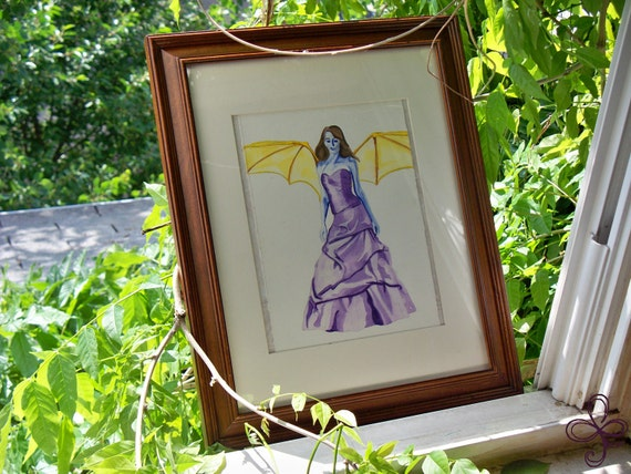 Unconventional Angel Watercolor Painting